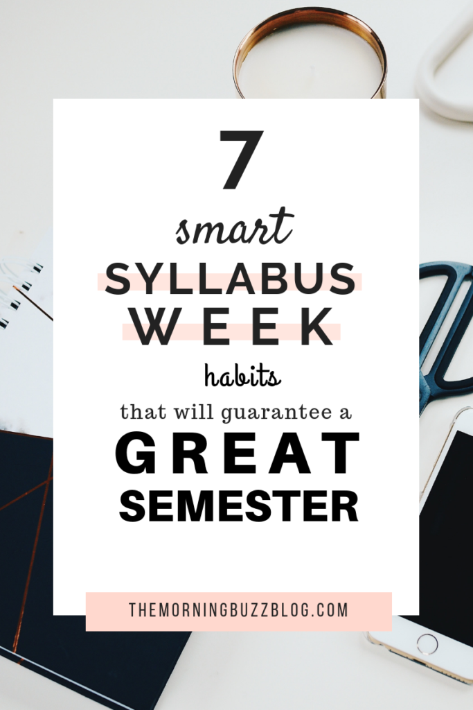 7 things you need to do during syllabus week