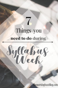 Learn the 7 things you need to do during syllabus week