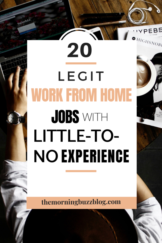 20 work from home jobs with little to no experience