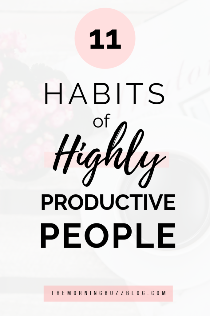 simple habits of highly productive people
