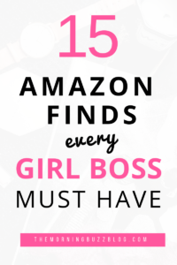 As girl bosses, we are always trying to take our careers and businesses to the next level. Here are 15 of the best Amazon products every career-girl must-have to step up her game. From technology to books, this list has it all. #career #careergirl #girlboss #amazonproducts